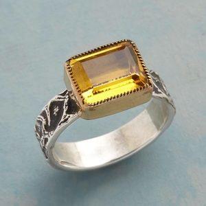 Elixir Citrine & Sterling Ring
